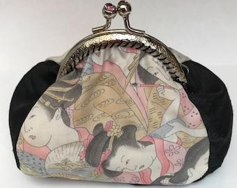 Handmade vintage Japanese kimono coin purse