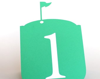 Golf Flag Pin Table Numbers 1 to 25 Wedding