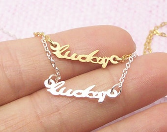 Dainty Lucky Necklace in Gold/Silver NB582