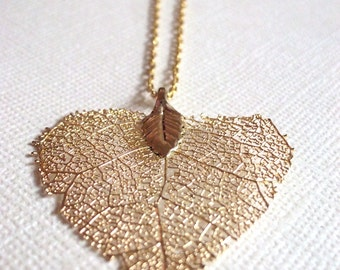 Small 14K Gold Leaf Necklace