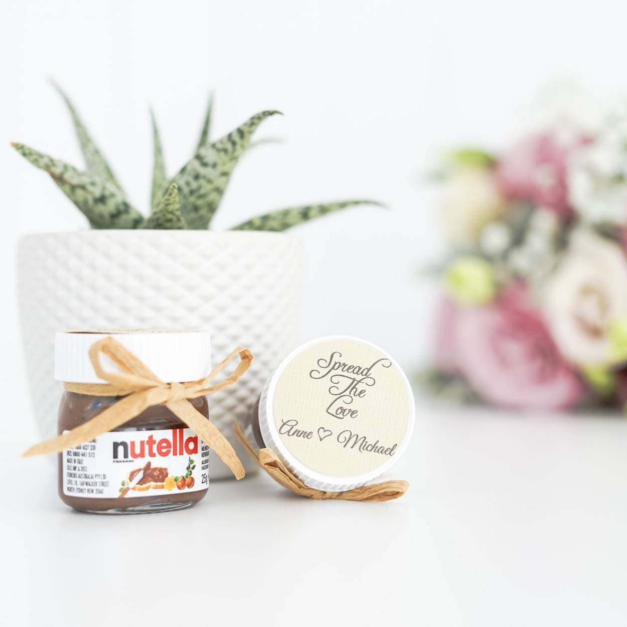Mini Nutella Spread The Love Unique Favour/ Wedding Favour/