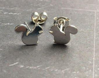 Squirrel Earring Earrings 925 Sterling Silver