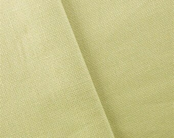 Light Sage Green Linen Canvas Drapery Fabric, Fabric By The Yard