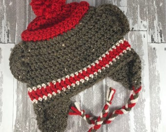 Sock Monkey Hat and Diaper Cover