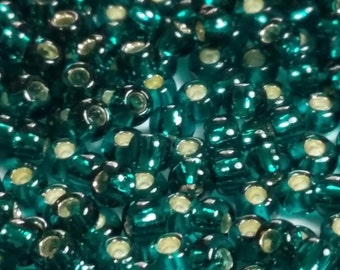 10g Silver-Lined Teal TOHO Seed Beads 11/0 - Approx. 1,125 Beads - Teal Beads 2mm - 11/0-27BD