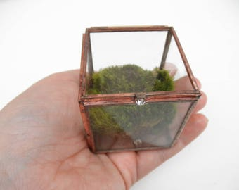 Glass Treasure Box - Ring Box - Flat Glass