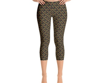 Capri Leggings - Bird of Paradise  Pattern 03
