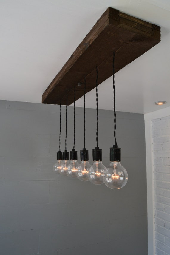 Wood Pendant Light Hanging Light Swag Light Multi