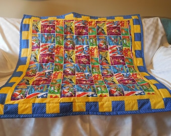 Super Heroes Boy's Quilt and Wall Hanging