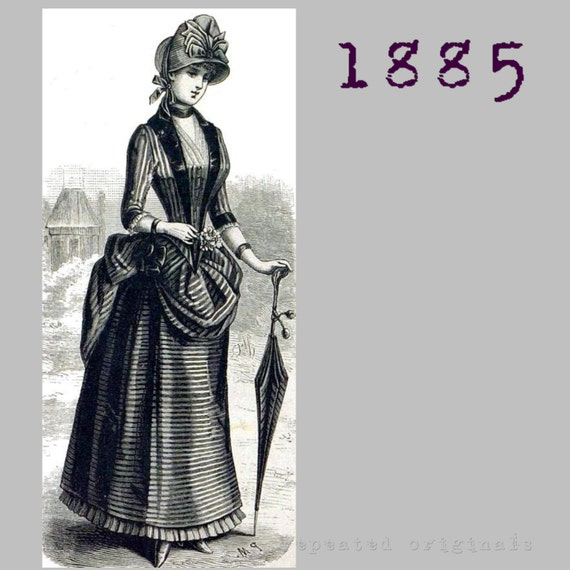 Guide to Victorian Civil War Costumes on a Budget Bustle Dress - 35
