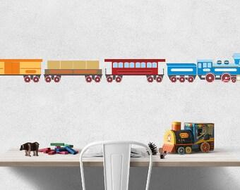 Train print, train printable wall art, red train wall art, steam locomotive print, locomotive printable, boy room wall art, train download