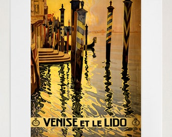 Art Venice Italy Travel Poster Italian Vintage Print (ZT176)