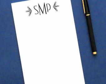 Modern Monogram notepad set, Simple Personalized notepad set, Monogrammed notepad set , Personalized Writing Paper, Mongrammed Notepad,NP021
