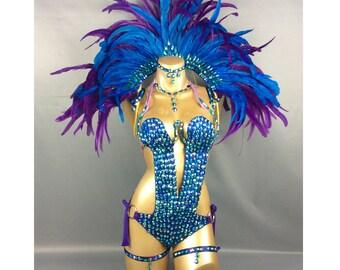 FREE SHIPPING  Carnivel Samba costume 8 piece