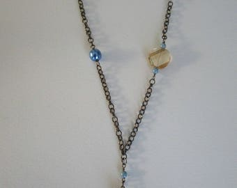 Topaz Swarovski Crystal twist necklace