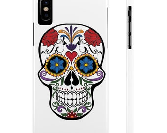 Iphone Slim Case | Sugar Skull Design, iphone cases, iphone 6 cases, phone cases, iphone 5 cases, iphone 7 cases, iphone  accessories