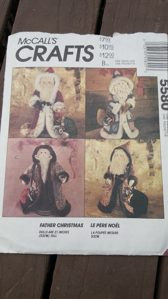 Holiday Craft Patterns, McCall\'s Crafts, Father Christmas, Ornaments ...