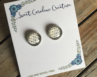CLEARANCE Round Stud Earrings