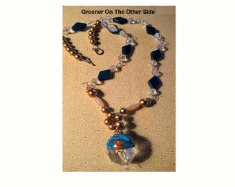 Greener On The Other Side World Pendant Necklace