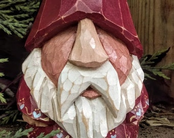 Carved wooden Tomte or Nisse