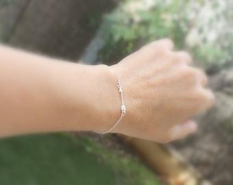Silver Arrow Bracelet Sideways Arrow Sterling Silver Arrow Jewelry Gift For Her Archery Jewelry Sterling Arrow