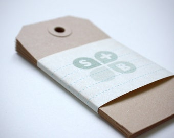 Set of 10 gift tags (kraft paper)