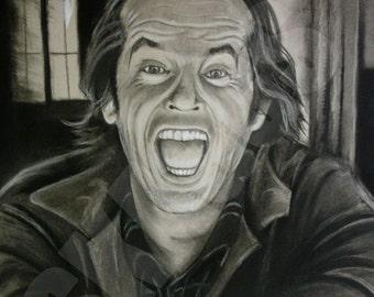Jack Torrance The Shining print of original charcoal drawing