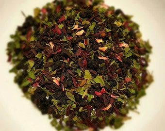 Mind Your Elderberry - Organic Loose Leaf Tea, Herbal Tea, Peppermint Tea, Hibiscus Tea, Elderberry Tea, Vegan Tea, Organic Tea