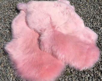 Sheepskin Sustainable Pink Rug or Throw with a Dorset story