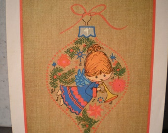 Vintage Mid Century Unused Christmas Card - Merry Christmas