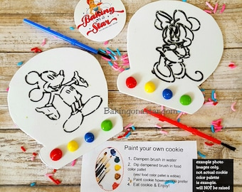 12 mouse couple paint your own cookie