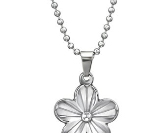 Steel Flower Necklace