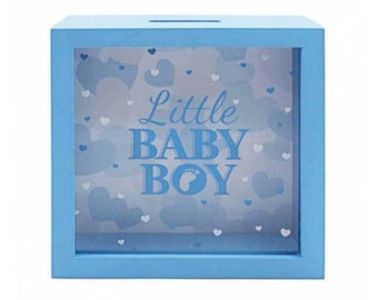 Little Baby Boy Glass Fronted Money Box