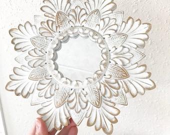 Vintage Ornate  Gold Framed Mirrors • Round Accent Mirrors • Boho Modern Farmhouse Decor