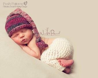 Crochet PATTERN - Crochet Baby Pants Pattern - Baby Photo Prop Pattern - Crochet Patterns for Babies - Includes 4 Sizes - PDF 335