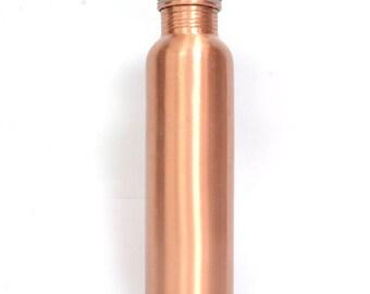 100% Pure Simple Copper Bottle- 1000 ML, Leak Proof & Joint Less for Ayurvedic Health Benefits Darshan Enterprises