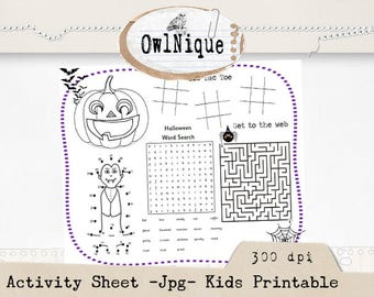 Kids Activity, Printable Activity,Activity sheet, Coloring sheet, 8.5x11 coloring page, Instant Download,  Printables, Activity Mat, JPG
