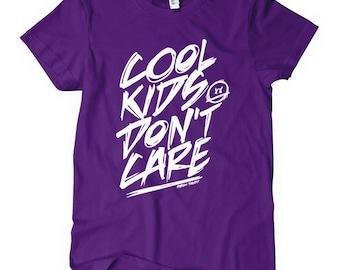 Women's Cool Kids Don't Care T-shirt - S M L XL 2x - Ladies' Fun Tee, Peer Pressure, Freedom - 4 Colors