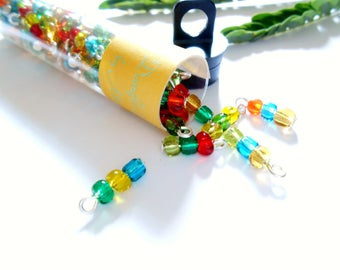 Transparent 3Bead Glass Dangle Beads