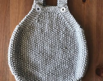 Textured Baby Romper 0-6 mos ***READY TO SHIP***