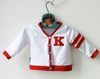 Custom Baby Varsity Sweater, Kids Letterman Jacket, Baby Boy Cardigan, Personalized Sweater, Varsity Jacket, Baby Gift Ideas, Baby Boy Gift