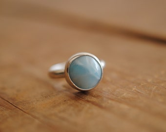 Larimar Ring | Size 6.5 | Sterling Silver