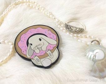 Sprinkles the Bunny - Brooch