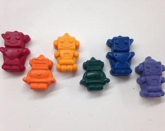 25 Robot Shaped Crayons, Gifts Under 20, Easter Basket, Stocking Stuffer, Robot Birthday Party, Classroom Valentine, Robot Valentine