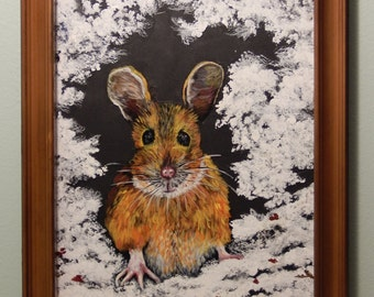 Hand Painted Acrylic Mouse