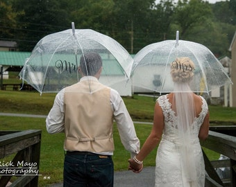 Mr. & Mrs. Umbrella Set - Engagement, Wedding, Photo Shoot, Photo Prop, Photographer - Wedding Umbrella