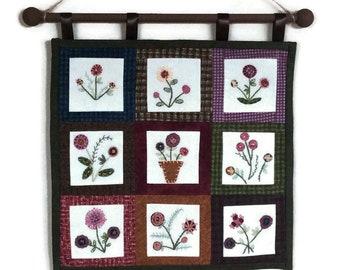 Handmade floral wall hanging