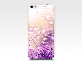 iphone 4 4s 5 5s 6 case floral iphone case botanical iphone case lilac cream art flower iphone case photography nature blossom pastel pink
