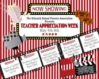 "Teacher Appreciation Week Sign- Printable, 16"" x 20"""