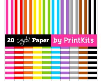 Stripe Digital Paper Striped Paper Basic Digital Paper Stripe Scrapbook Paper Stripe Pattern Stripe Background Stripes Paper Printkits